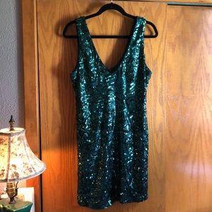 Green Sequin Mini Dress Forever 21